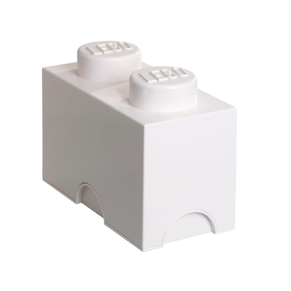 Lego - Storage Brick 2, weiß | Kinderzimmer > Spielzeuge | Weiß | Lego