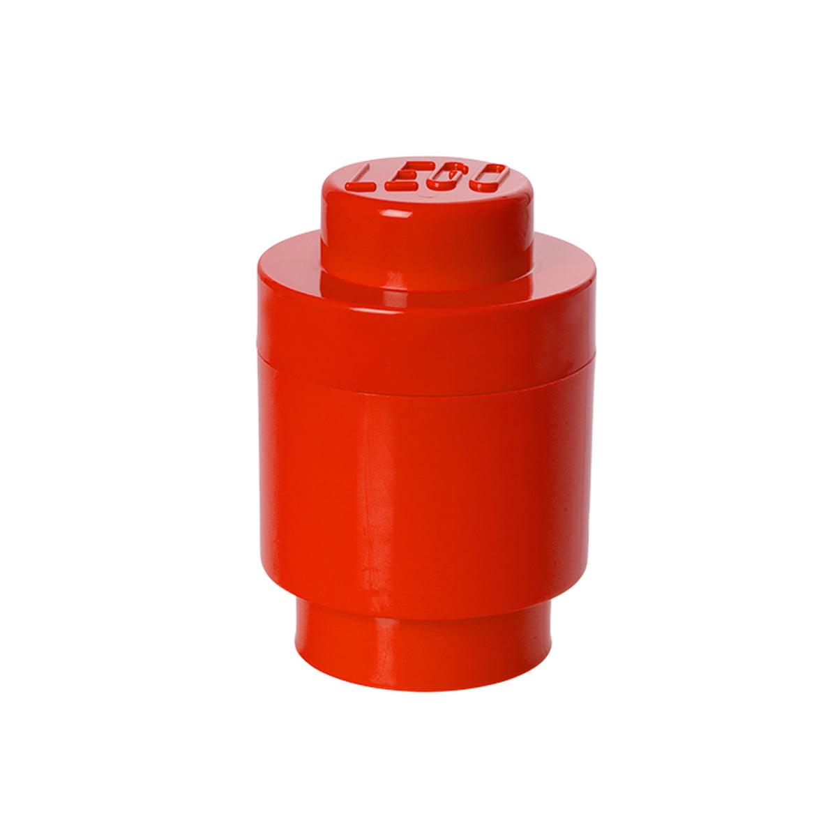 Lego - Storage Brick 1 Round, rot   Kinderzimmer > Spielzeuge   Rot   Kunststoff   Lego