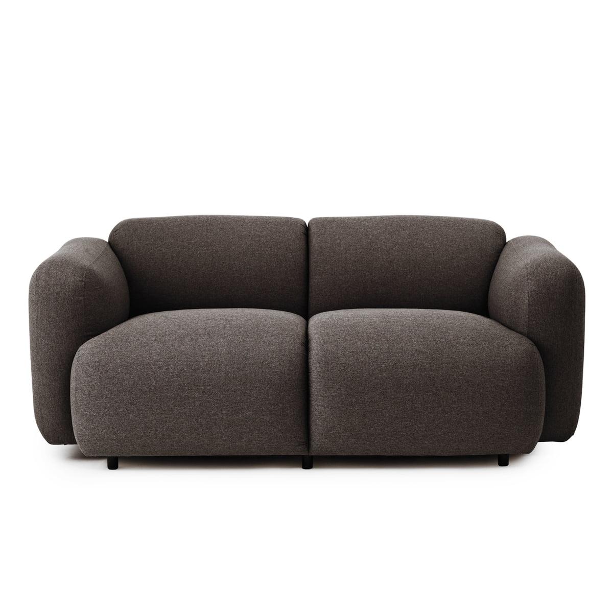 Swell Sofa, 2-Sitzer, dunkelgrau