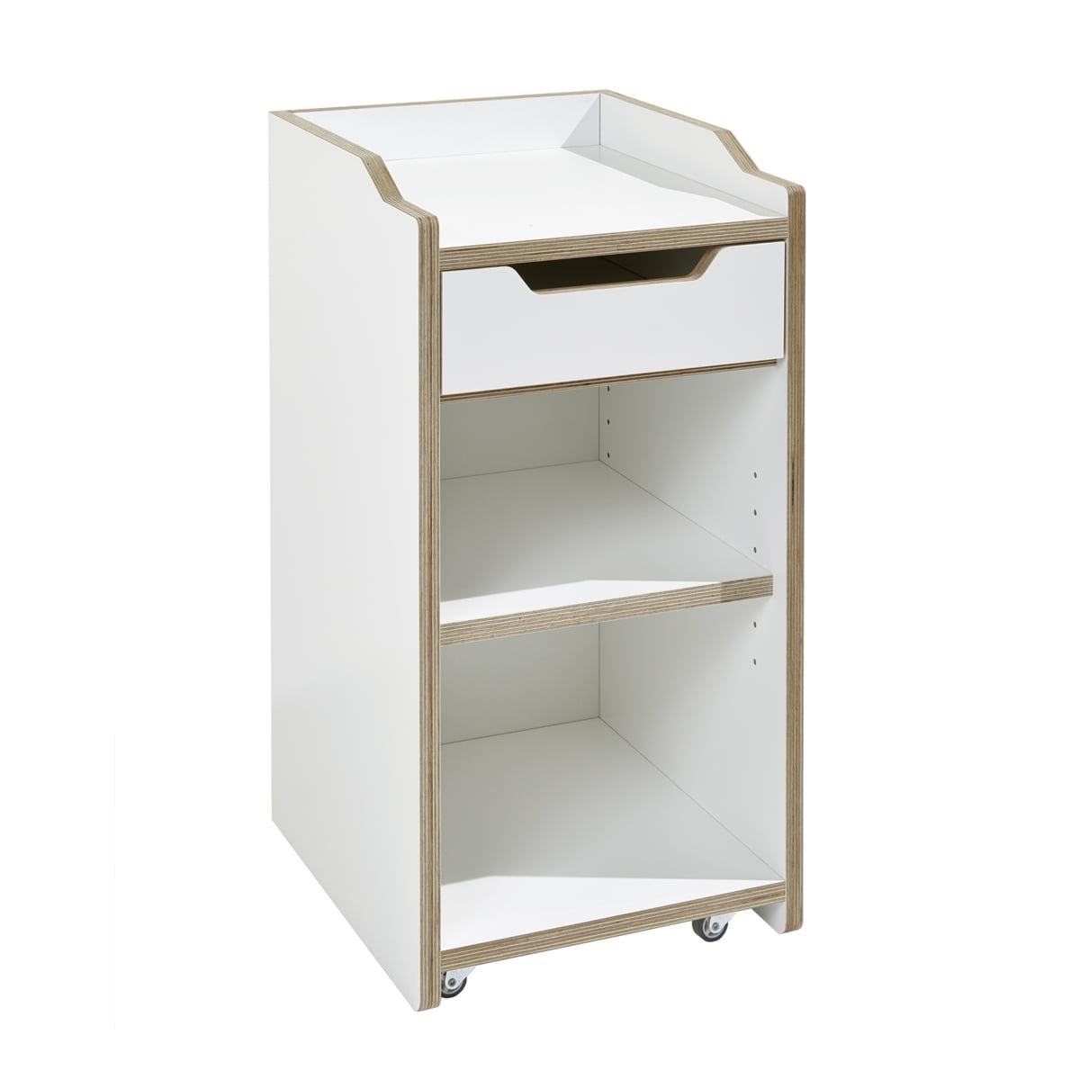 Müller Möbelwerkstätten - Plane Container, weiß (ohne Tür) | Büro > Büroschränke | Weiß | Birkenschichtholz -  weiß beschichtet -  kante geölt | Müller Möbelwerkstätten