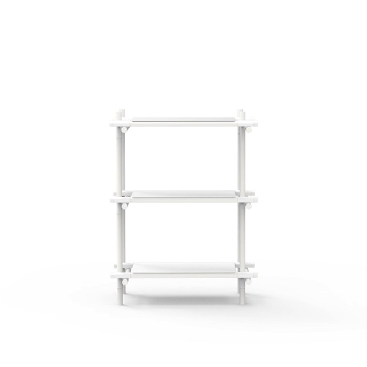 Sticksystem white white 1x3