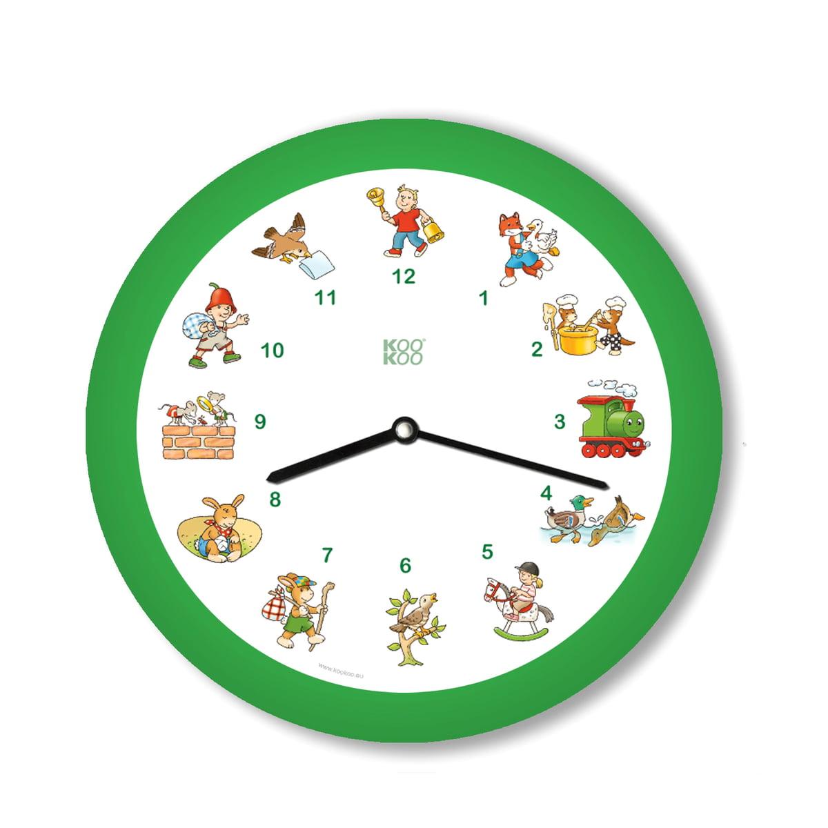 KooKoo - Kinderlieder Wanduhr, grün | Dekoration > Uhren > Wanduhren | Grün | Kunststoff -  holz -  aluminium | KooKoo