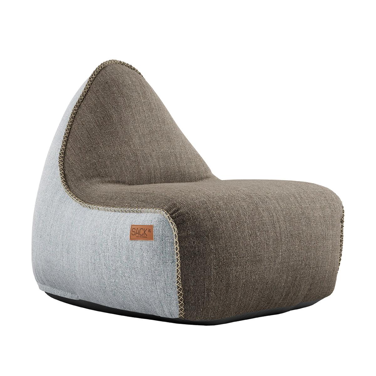 SACK it ApS SACK it - RETRO it Outdoor Sitzsack, braun / weiß | Garten > Gartenmöbel > Outdoor-Sitzsäcke | Verschiedene farben | SACK it ApS