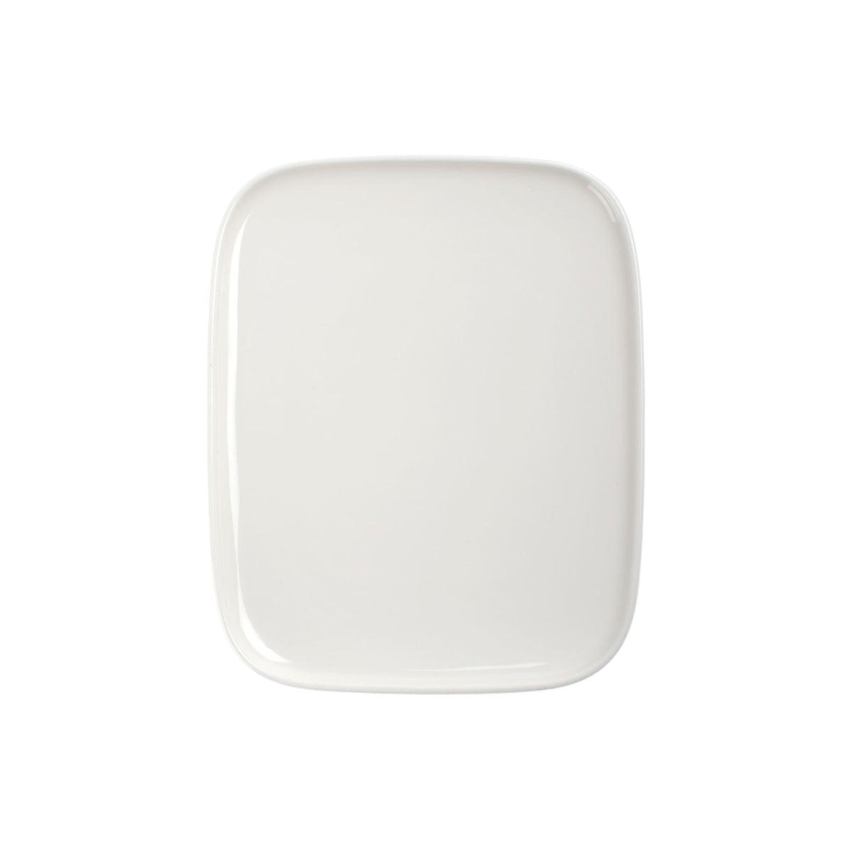 Marimekko - Oiva Teller, 15 x 12 cm, weiß | Küche und Esszimmer > Besteck und Geschirr | Weiß | Steinzeug | marimekko