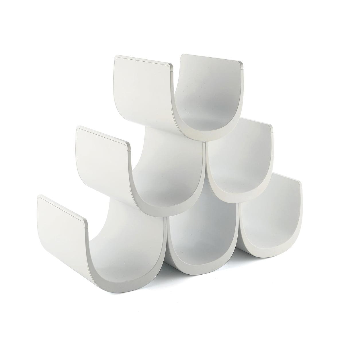 Alessi - Noè Flaschenregal, weiß | Küche und Esszimmer > Küchenregale > Weinregale | Weiß | Thermoplastisches harz | Alessi
