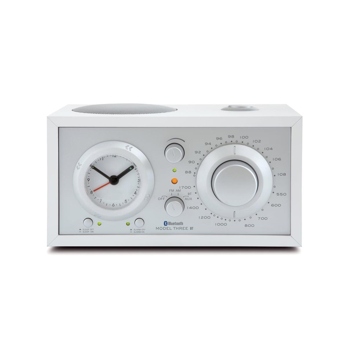 Tivoli Audio - Model Three BT Radiowecker, weiß / silber   Dekoration > Uhren > Wecker   Weiß   Tivoli Audio