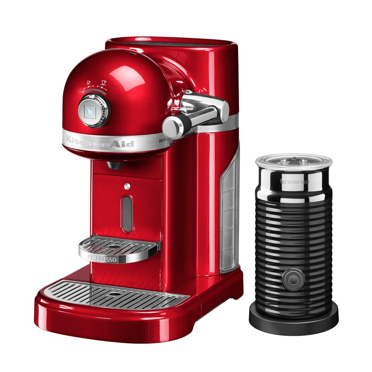 Kitchen Aid KitchenAid - Artisan Nespresso inkl. Aeroccino 3, empire rot | Küche und Esszimmer > Kaffee und Tee > Espressomaschinen | Backstein | Edelstahlgehäuse | Kitchen Aid