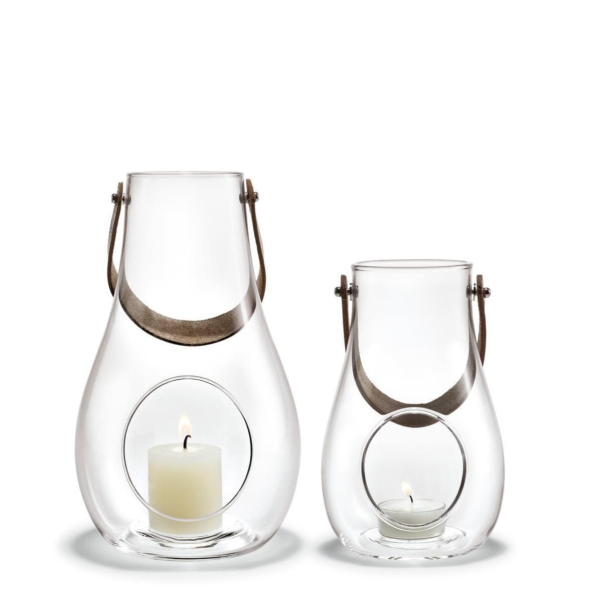 Holmegaard - Design with light Laterne (2er-Set) H 16 cm + 25 cm, klar
