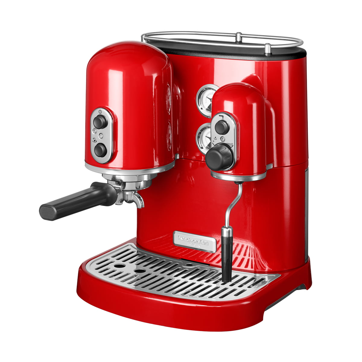 Kitchen Aid KitchenAid - Artisan Espressomaschine, empire rot | Küche und Esszimmer > Kaffee und Tee > Espressomaschinen | Rot | Ganzmetallgehäuse -  edelstahl-siebeinstätze | Kitchen Aid