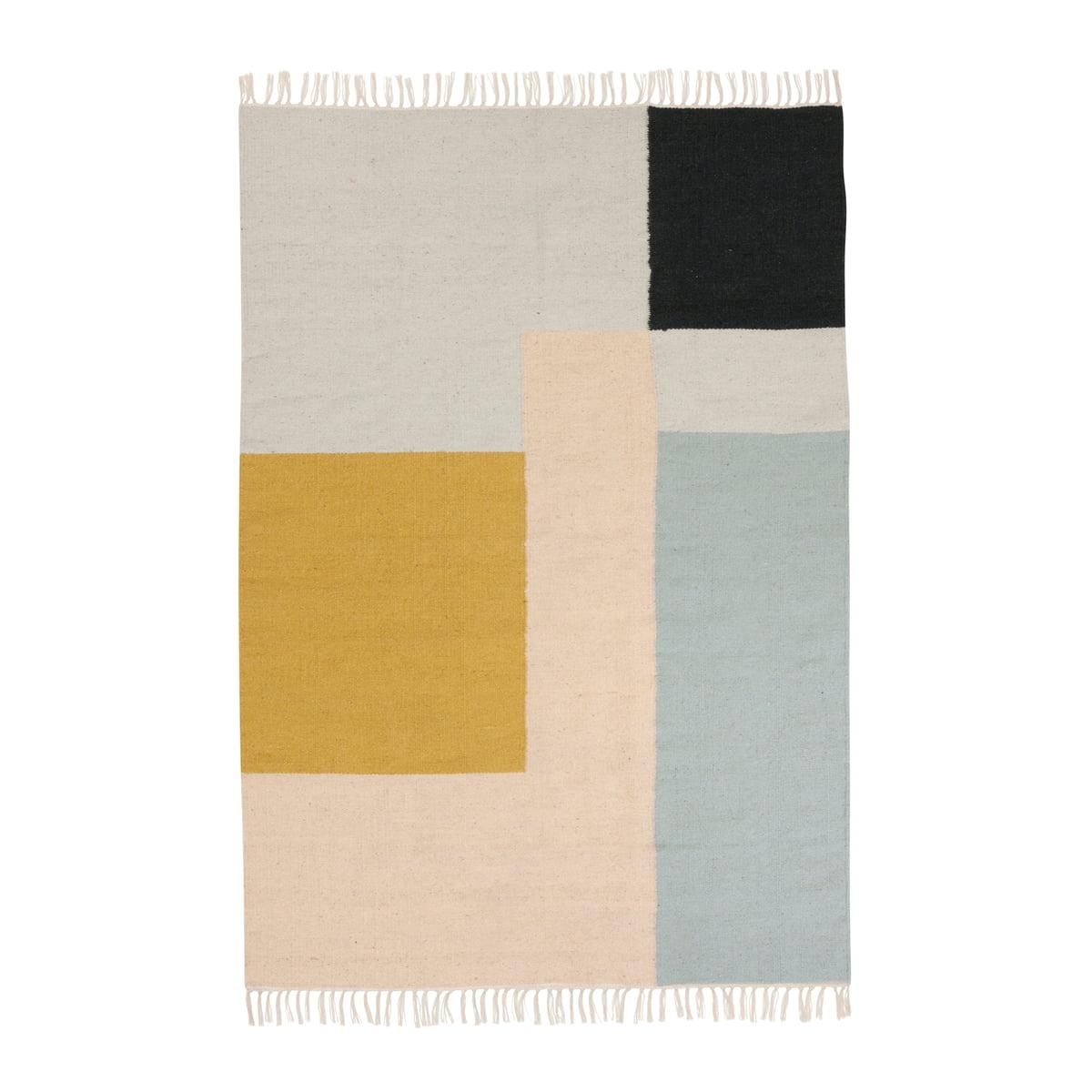 Kelim rug teppich squares gross