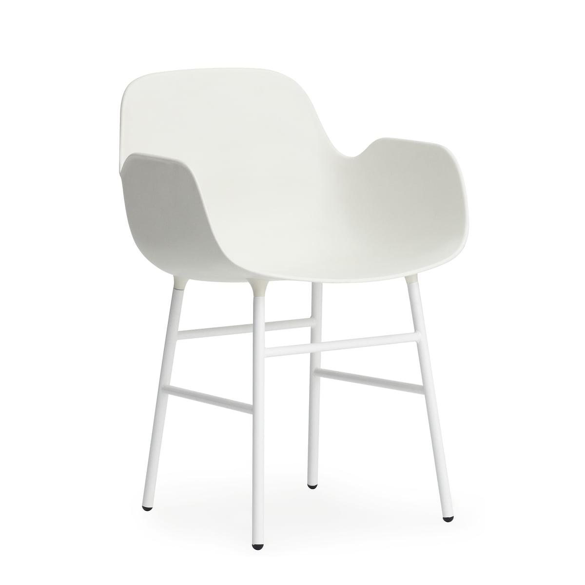 Form armchair steel legs white