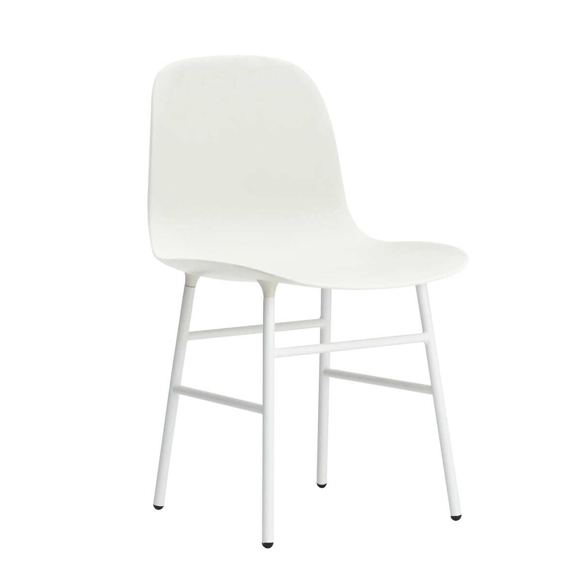 Form chair white steel legs