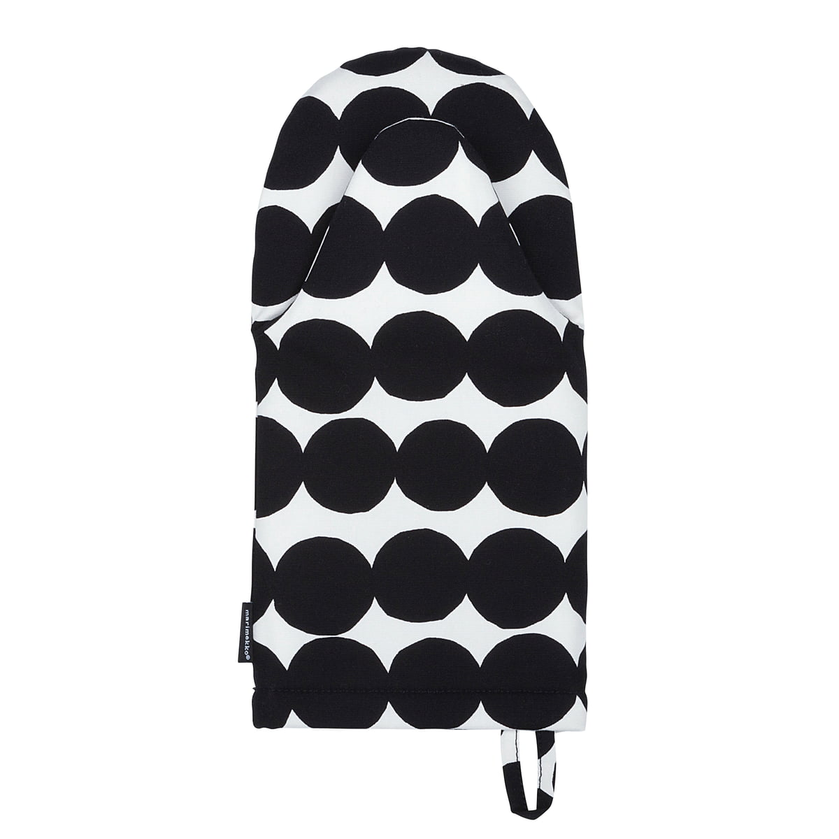 Marimekko - Räsymatto Ofenhandschuh, schwarz / weiß | Küche und Esszimmer > Küchentextilien > Topflappen | Schwarz - Weiß | Marimekko