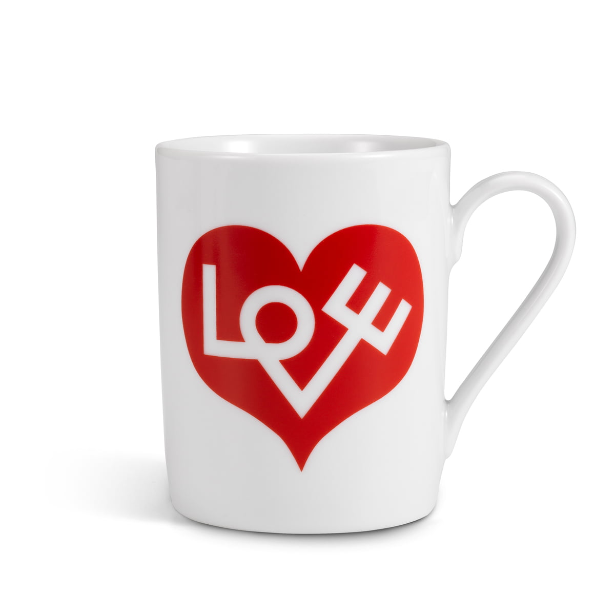 Coffee mug love heart red