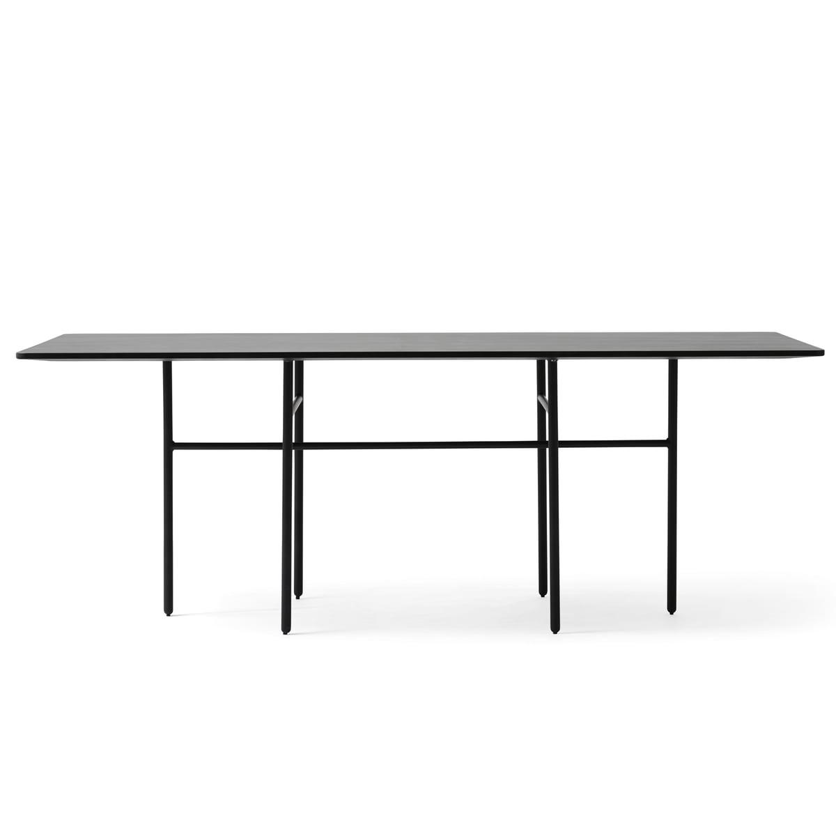 Snaregade table rechteckig schwarz funiert