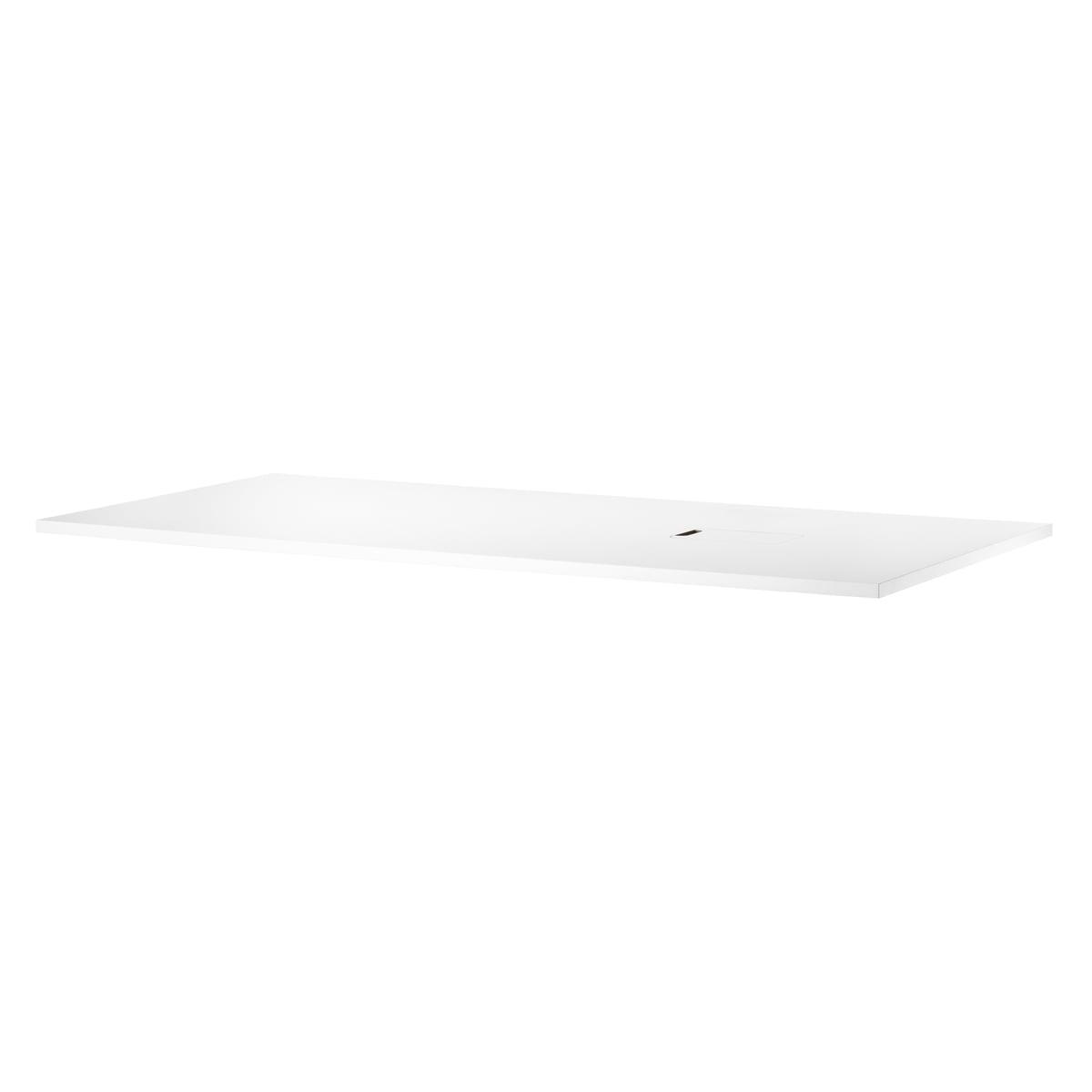 String - Works Schreibtischplatte 160 x 78 cm, weiß | Büro > Bürotische > Bürotische-Zubehör | Weiß | Laminat -  weiß | String