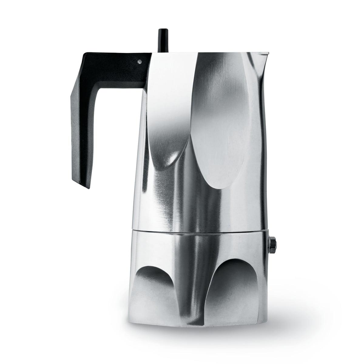 Alessi - MT18/3 Ossidiana Espressomaschine   Küche und Esszimmer > Kaffee und Tee   Aluminium   Gußaluminium -  thermoplastisches harz   Alessi
