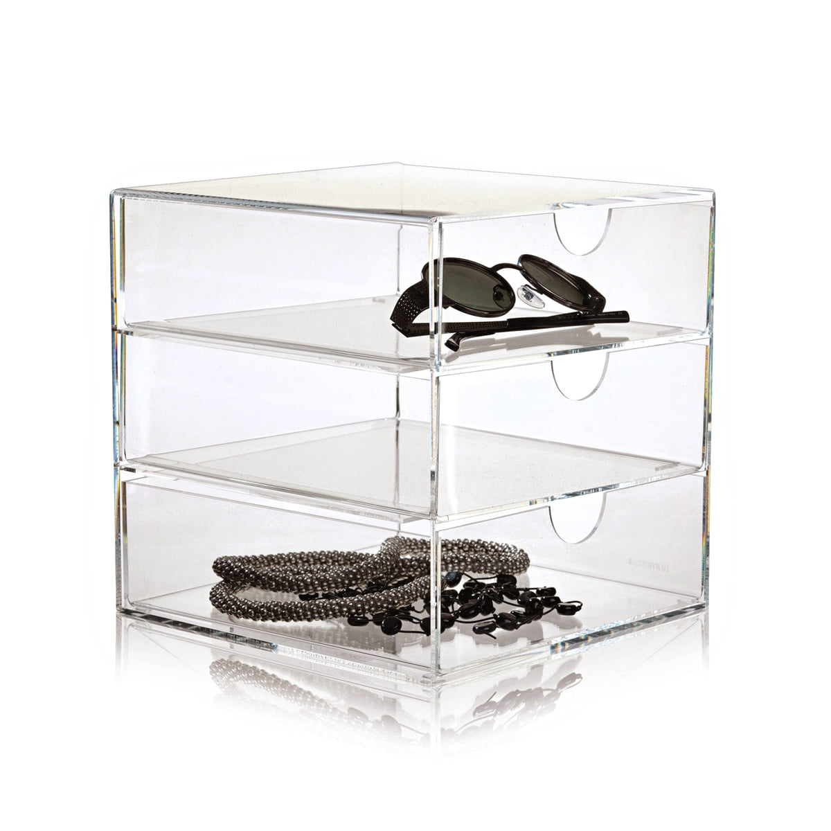 Clear 3 drawer 20