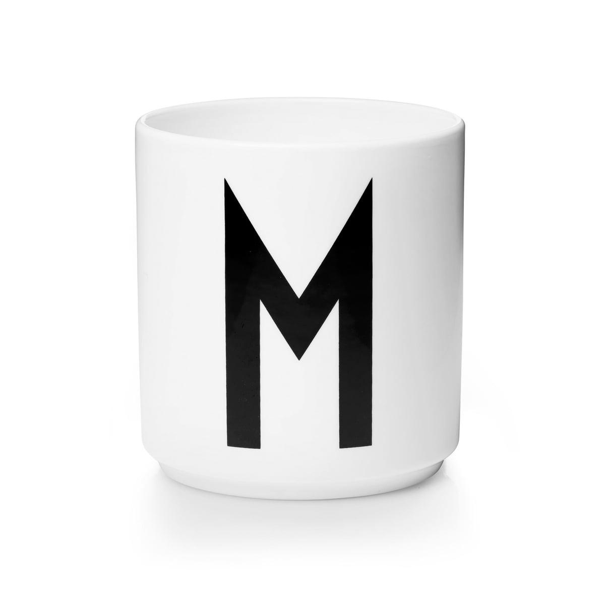 Design letters aj porzellan becher m