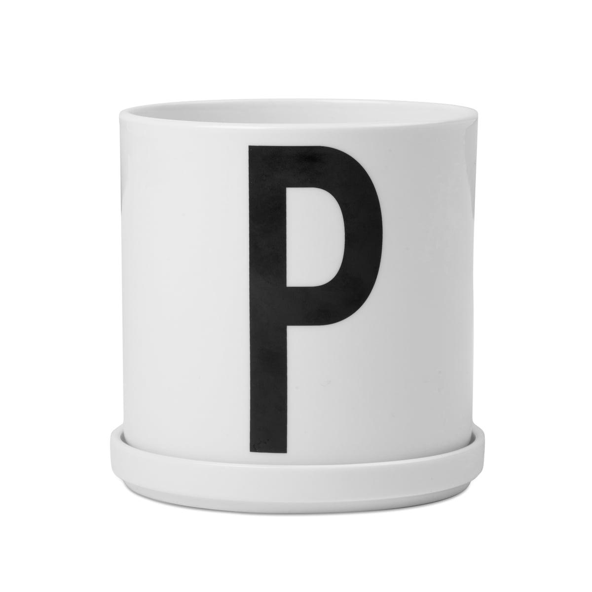 Design letters aj porzellan pflanztopf