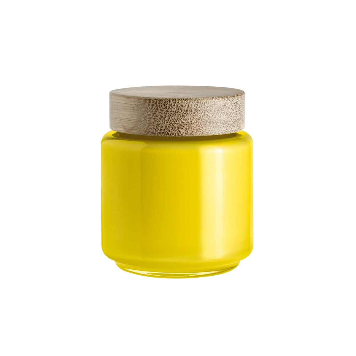 Holmegaard aufbewahungsglas frei gelb