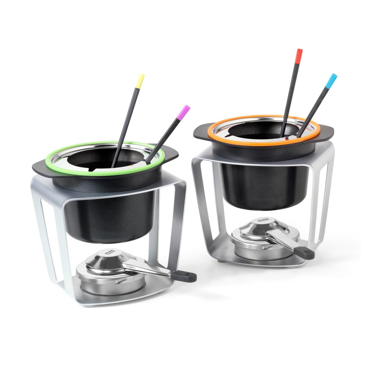 Stöckli - Fondue Fun (2er-Set) | Küche und Esszimmer > Küchengeräte > Fondue | Schwarz | Aluguss-topf -  silikonring -  edelstahlrechaud | Stöckli