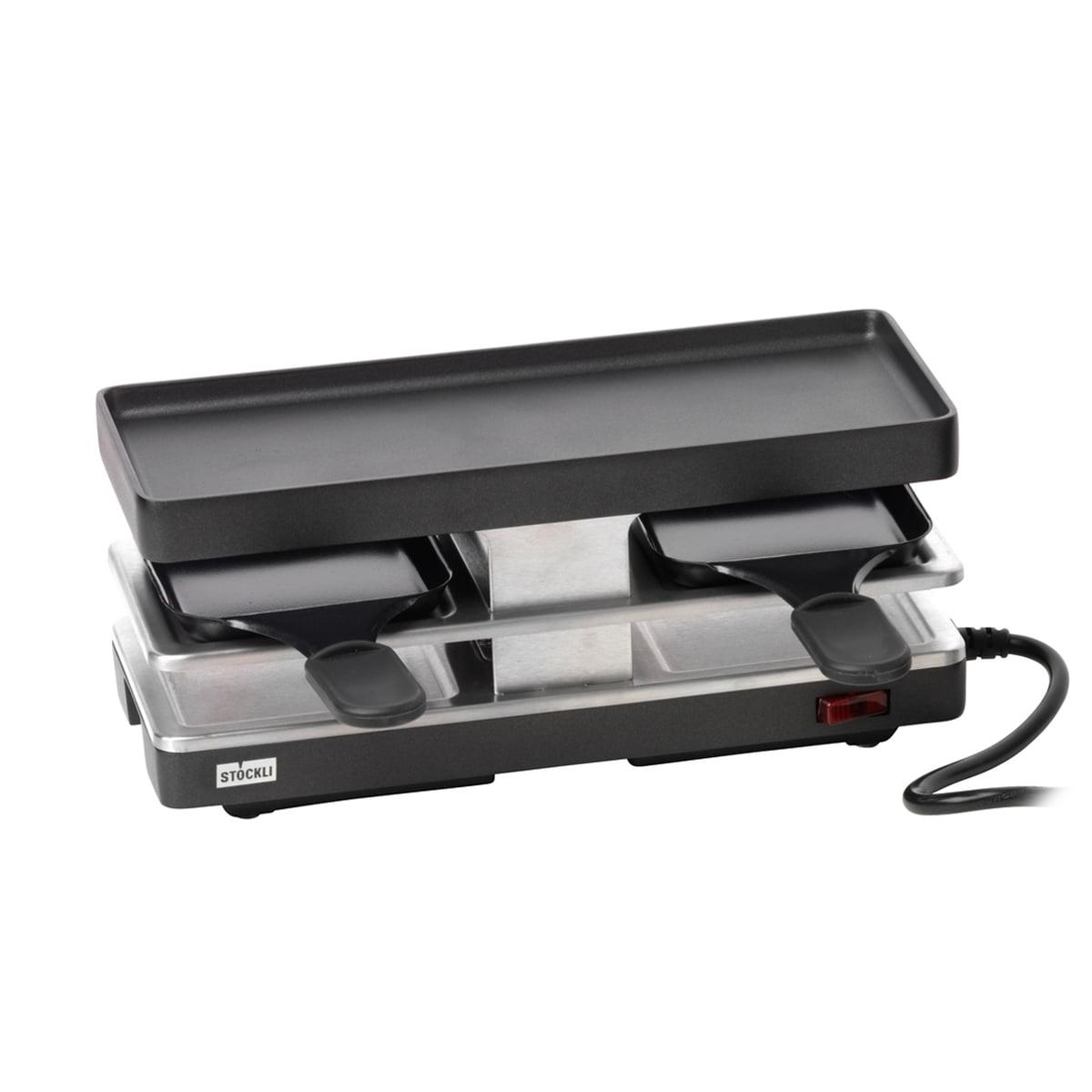 Stöckli - Raclette Twinboard Basisgerät, anthrazit (EU) | Küche und Esszimmer > Küchengeräte > Raclette | Anthrazitschwarz | Antihaftversiegelte grillplatte aus aluguss -  edelstahl | Stöckli