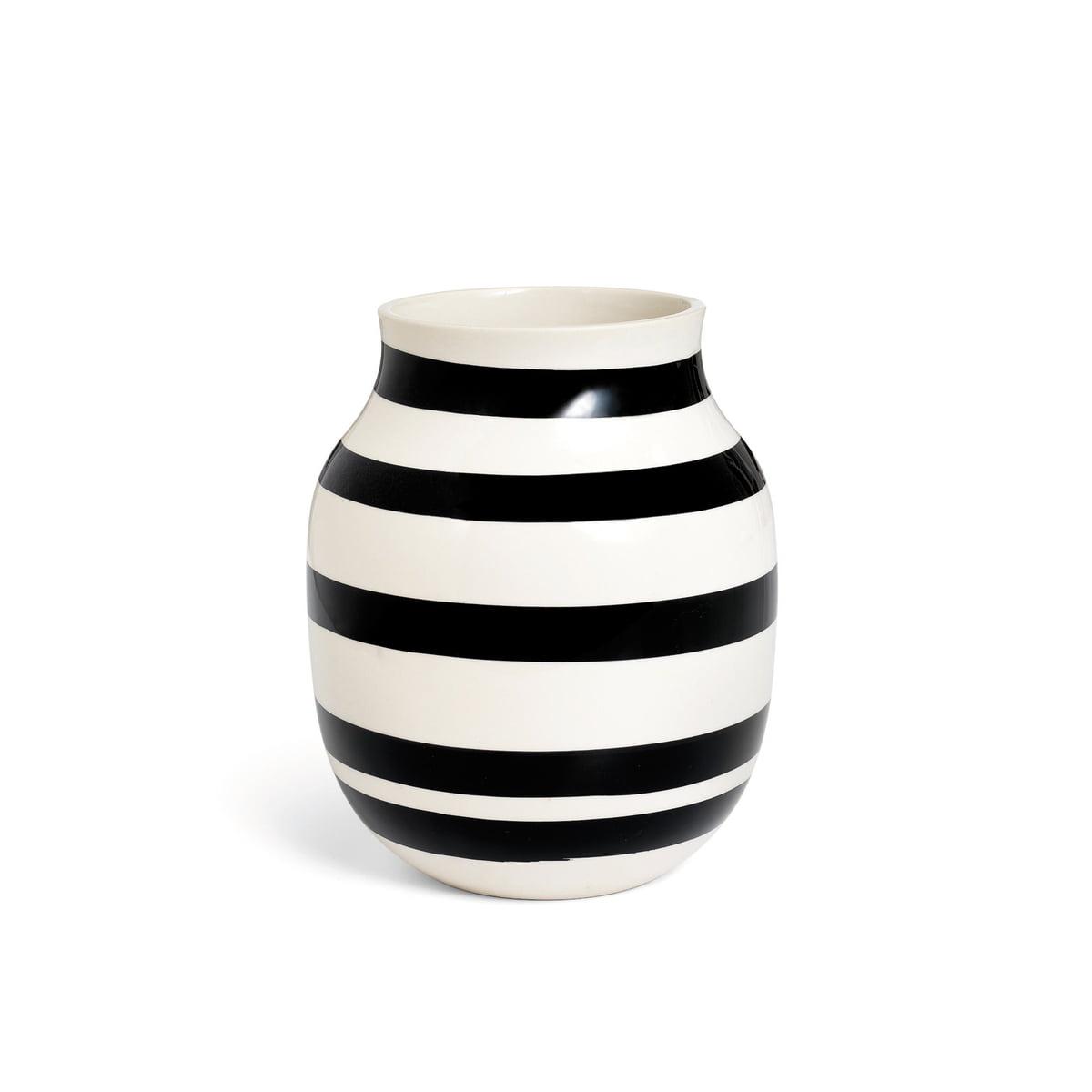 Kaehler design omaggio vase h 200 schwarz