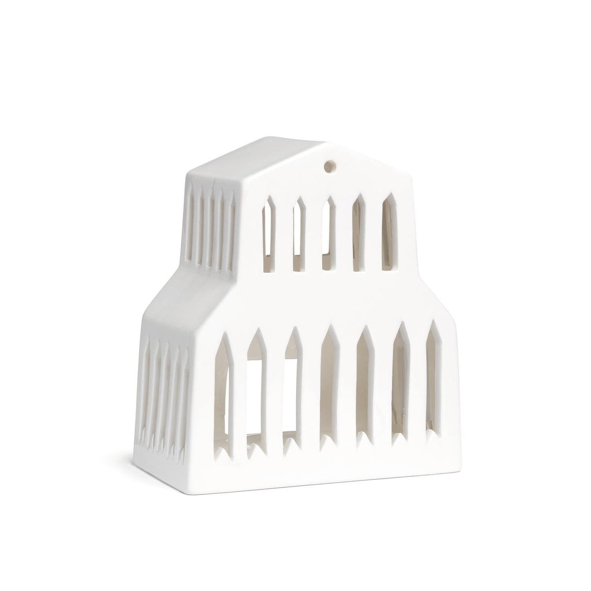 Kähler Design - Urbania Teelichthaus, Basilica | Dekoration > Kerzen und Kerzenständer > Teelichter | Weiß | Keramik | Kähler Design
