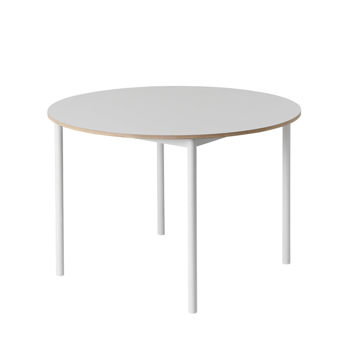 Muuto base table 110 cm weiss sperrholzkante