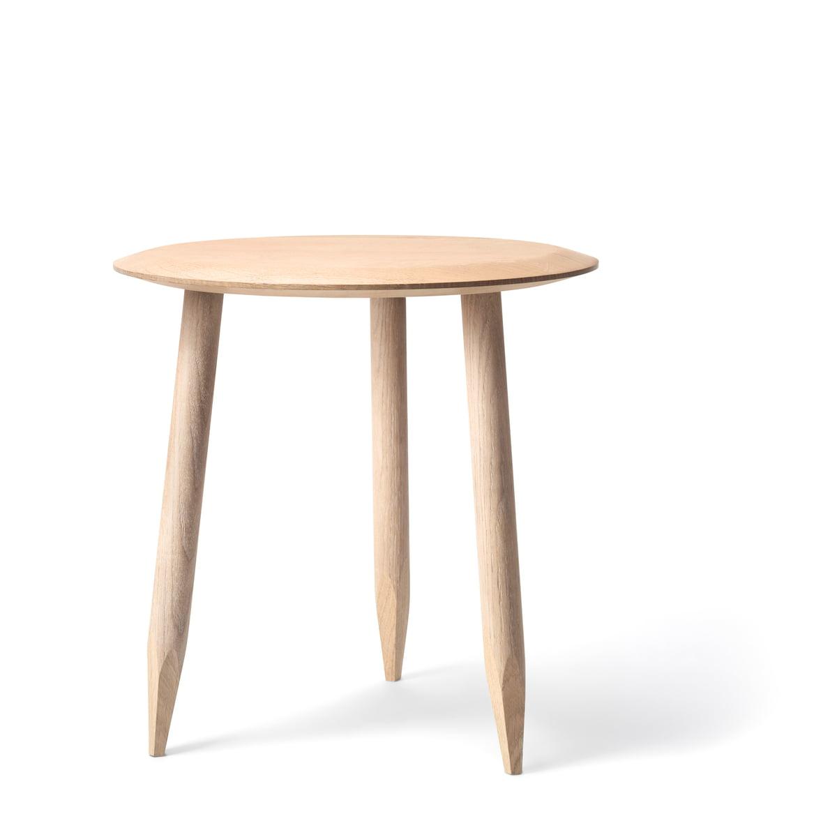 &tradition - Hoof Beistelltisch SW1, Ø 50 cm, Eiche weiß geölt | Wohnzimmer > Tische | Eiche geölt | &tradition