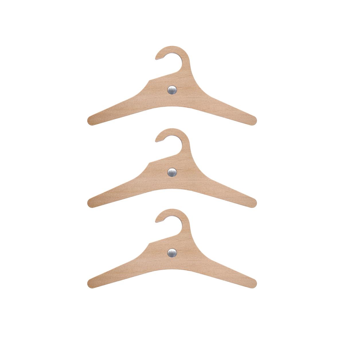 Rizz - Kleiderbügel The Sparrow (3er-Set), für Kinder | Flur & Diele > Garderoben > Kleiderbügel | Braun | Zedernholz mit einem kern aus buchenholz | Rizz