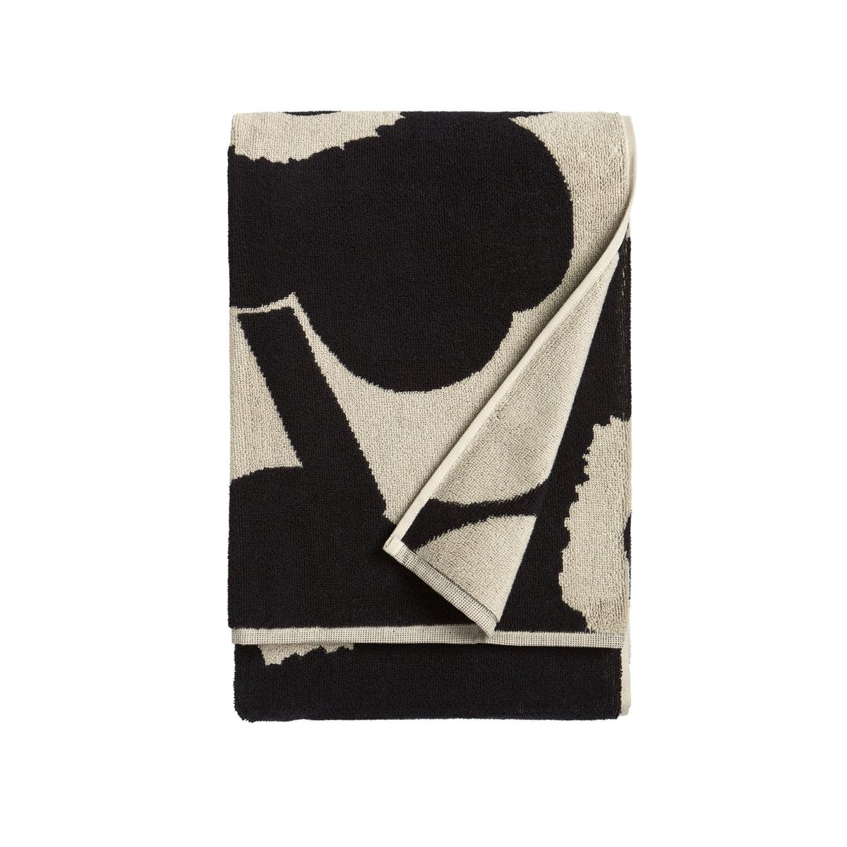 Marimekko - Unikko Badetuch 75 x 150 cm, schwarz   Bad > Handtücher > Badetücher   Schwarz   marimekko
