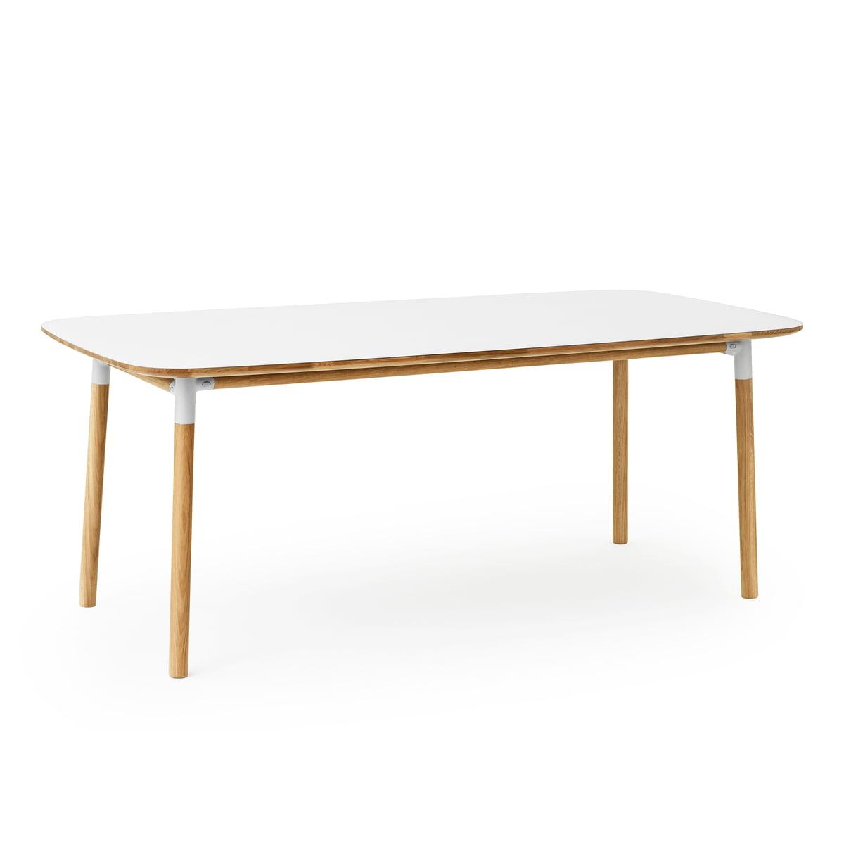 Normann copenhagen form table 95 x 200 cm eiche weiss