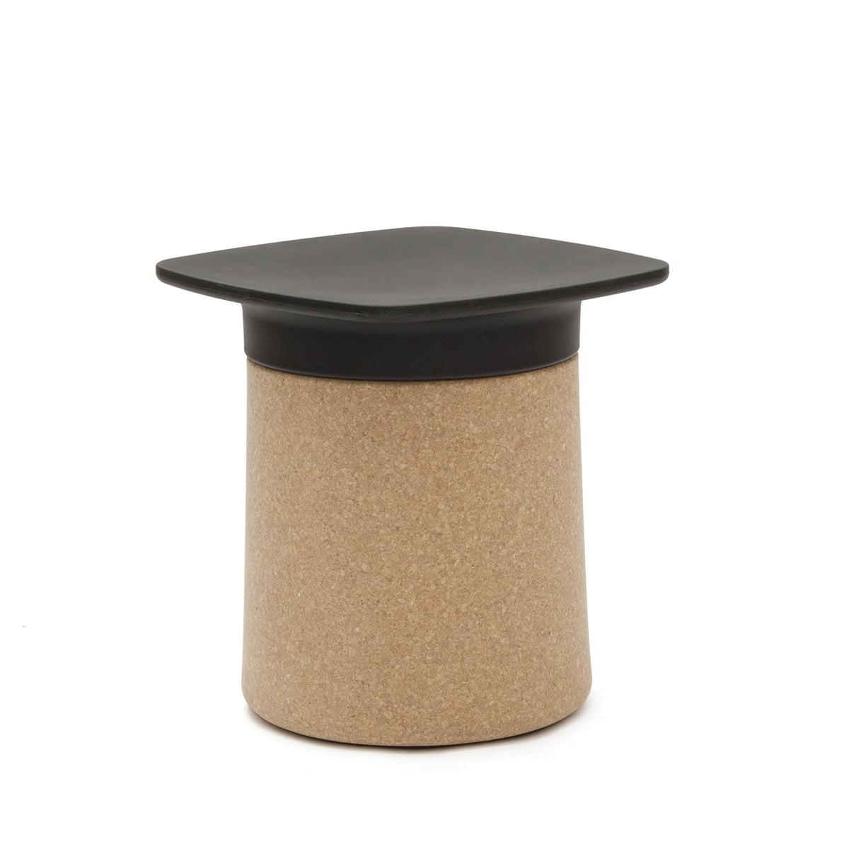 Kristalia degree couchtisch kork schwarzerdeckel freisteller 01