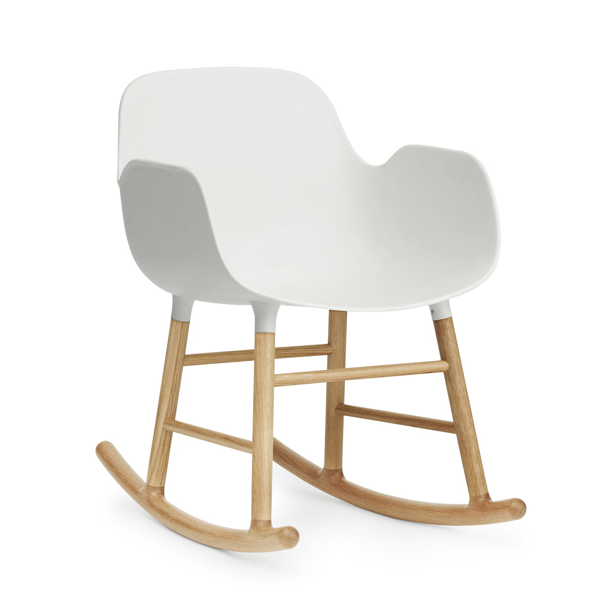 Normann copenhagen form rocking armchair eiche weiss
