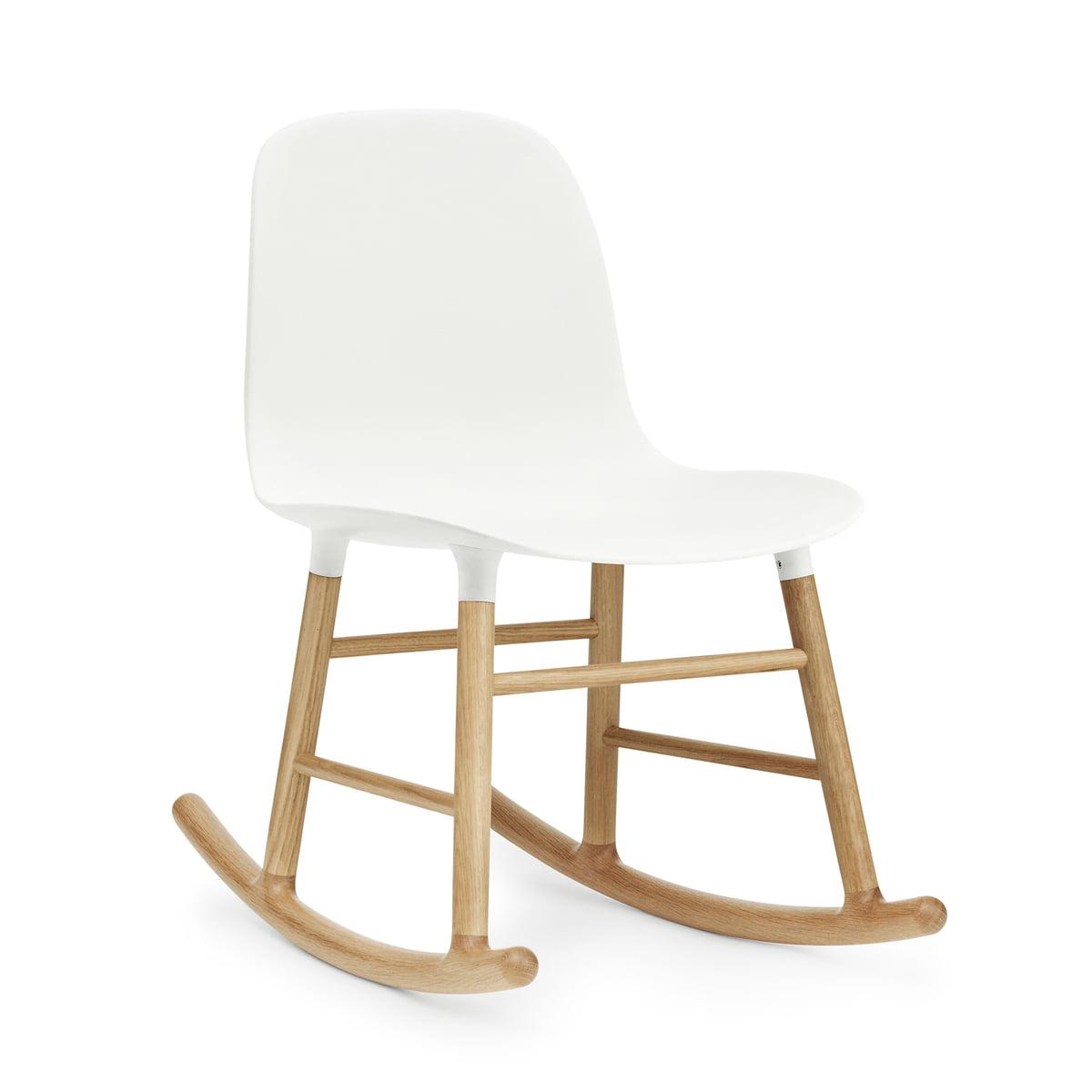 Normann Copenhagen - Form Schaukelstuhl, Gestell Eiche / weiß | Wohnzimmer > Stüle > Schaukelstühle | Weiß | Normann Copenhagen