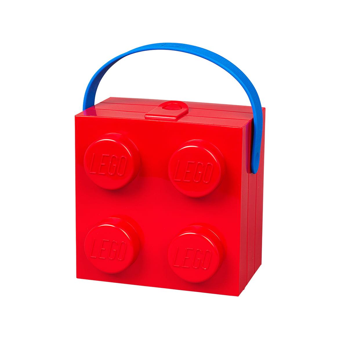 Lego - Lunch Box mit Griff, rot | Kinderzimmer > Spielzeuge | Rot | Polypropylen | Lego