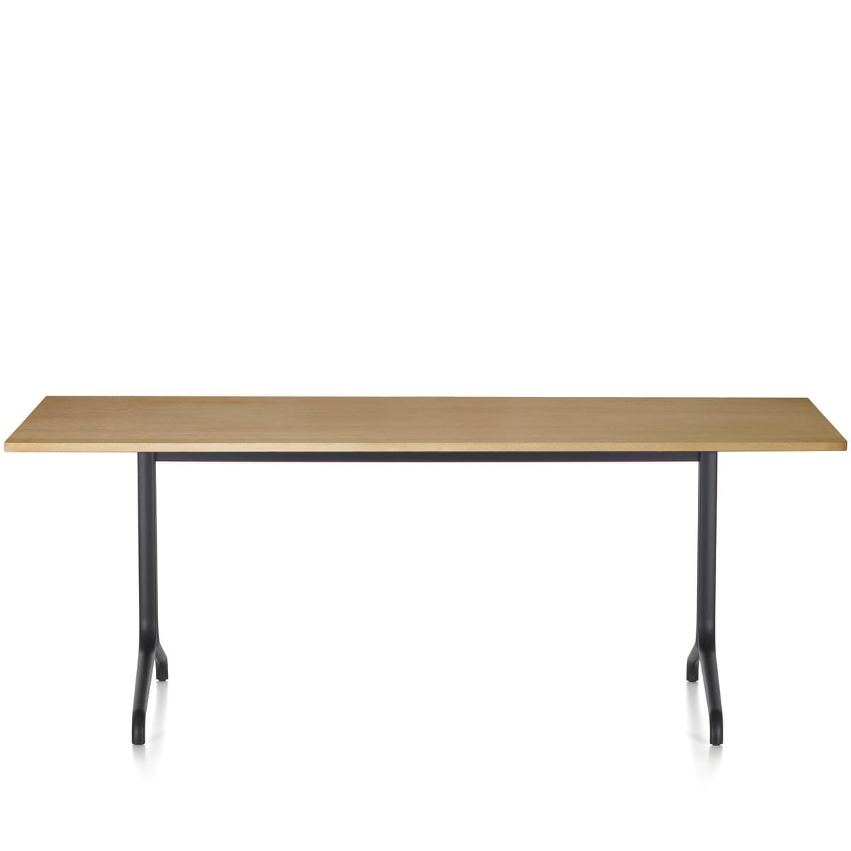 Belleville table recheckig 200 80 tisch schwarz eiche hell freisteller 01