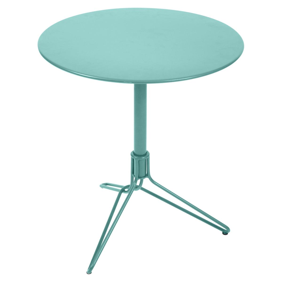 Fermob - Flower Bistrotisch, rund, Ø 67 cm, türkisblau | Küche und Esszimmer > Bar-Möbel > Bar-Stehtische | fermob