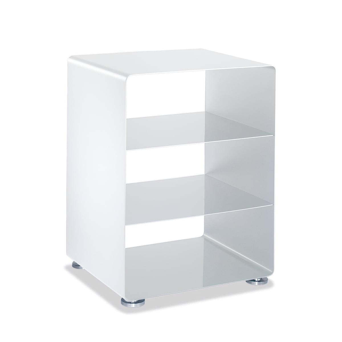 Müller Möbelfabrikation - R 600N Hifi-Rack mit 2 Böden (RAL 9016) | Wohnzimmer > TV-HiFi-Möbel > HiFi-Racks | Verkehrsweiß (ral 9016) | 2 - 5 mm starkes metall | müller Möbelfabrikation