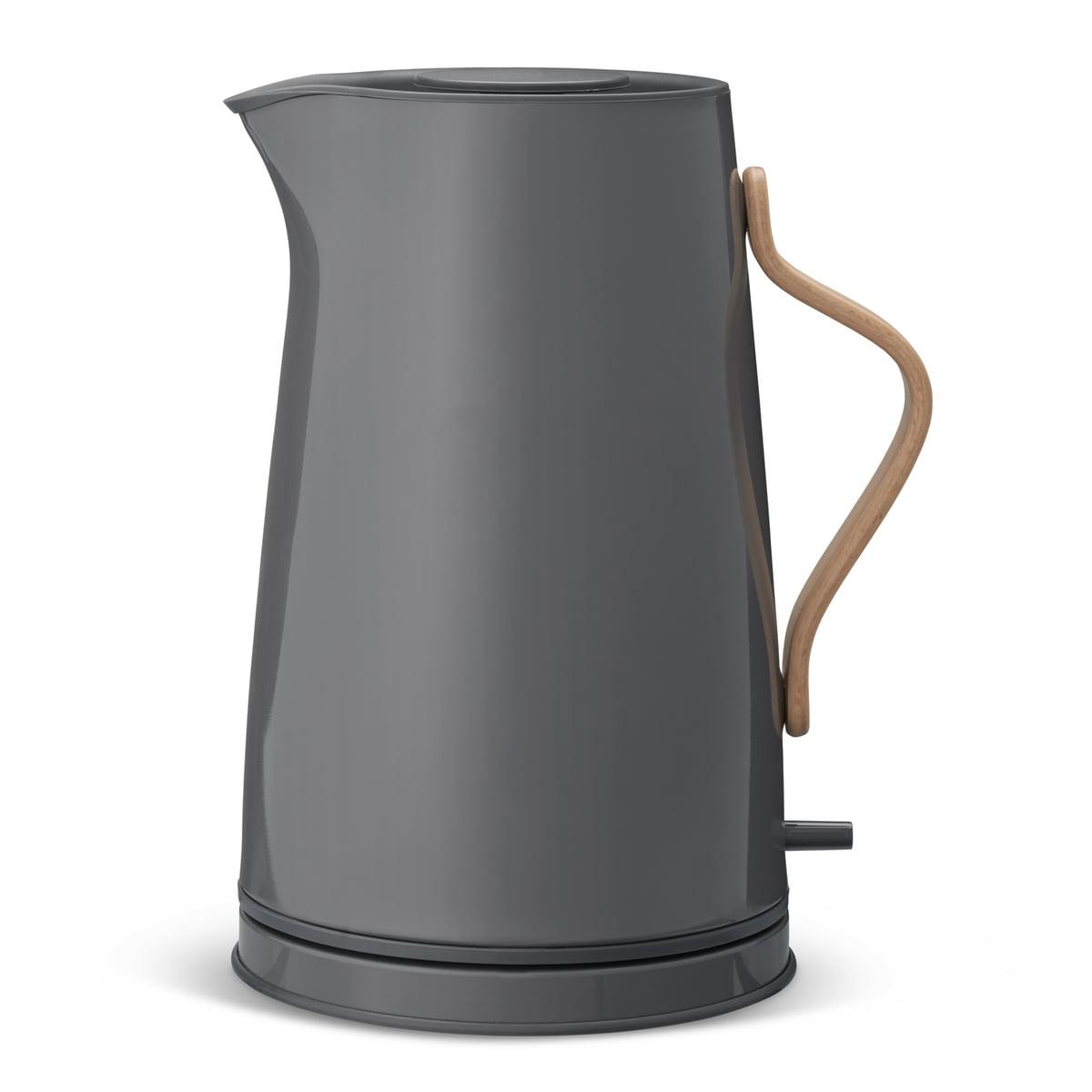 Stelton - Emma Wasserkocher 1,2 L, grau (EU) | Küche und Esszimmer > Küchengeräte > Wasserkocher | Grau | Edelstahl -  buchenholzgriff | Stelton