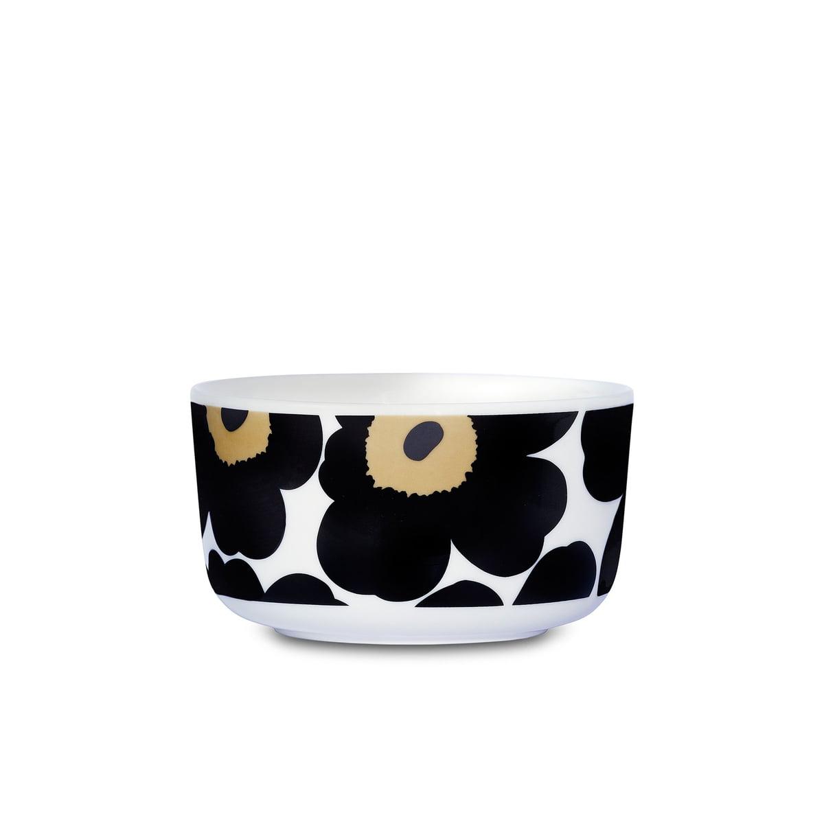 Marimekko - Oiva Unikko Schale 500 ml, schwarz / weiß   Dekoration > Aufbewahrung und Ordnung > Schalen   Mehrfarbig   marimekko