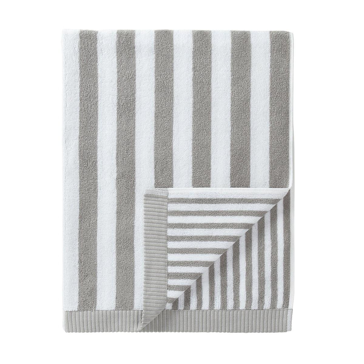Marimekko - Kaksi Raitaa Badetuch 75 x 150 cm, grau / weiß   Bad > Handtücher   Grau - Weiß   Marimekko