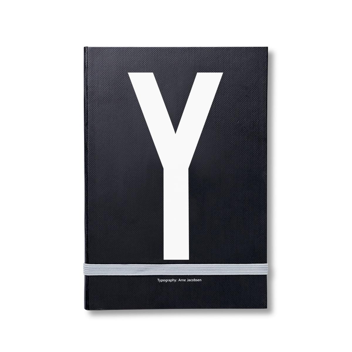Design Letters - Personal Notizbuch von A-Z, Y | Dekoration > Accessoires | Design Letters