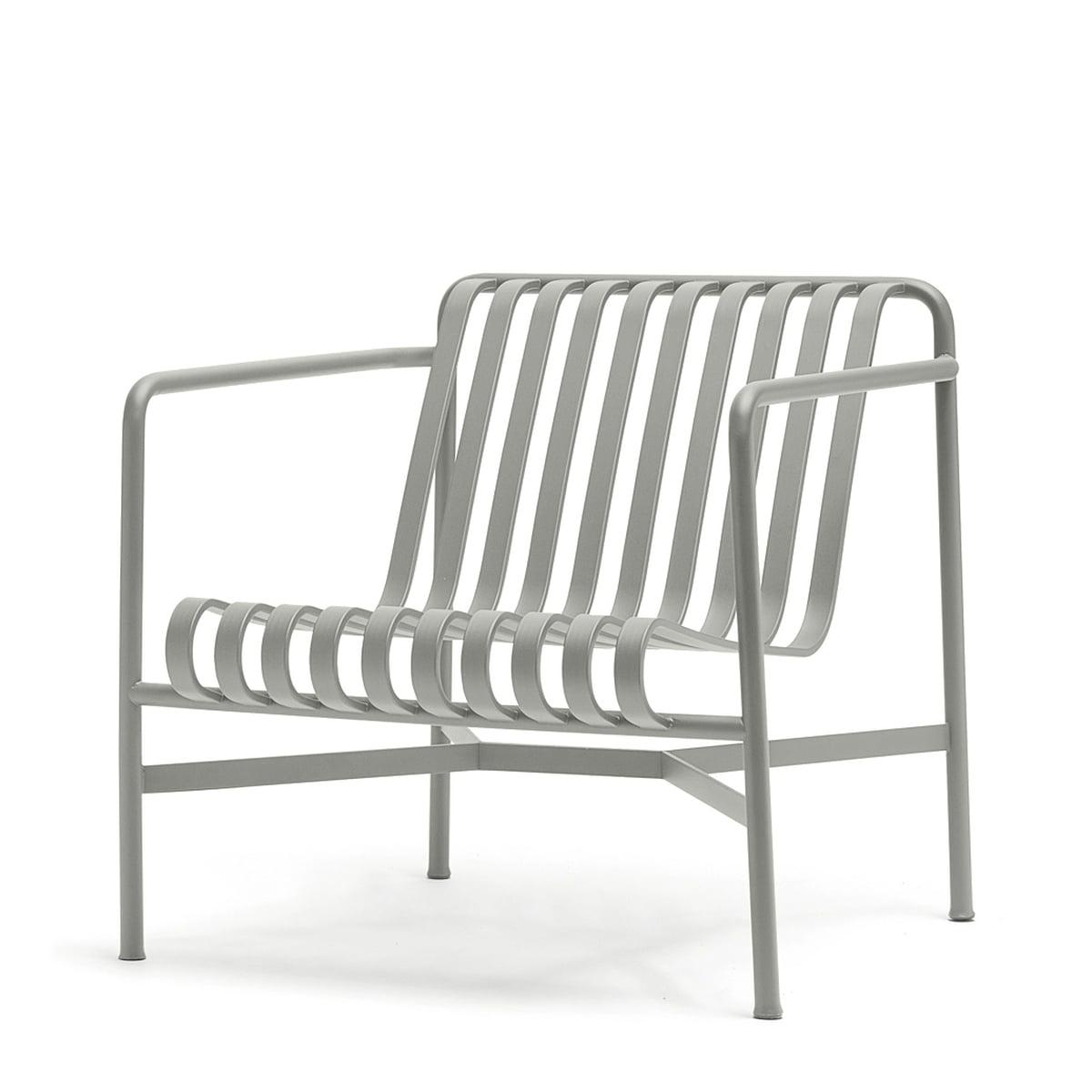 Hay palissade lounge chair low hellgrau