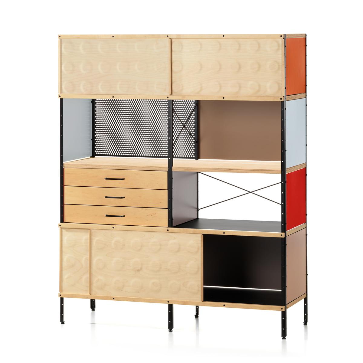 Vitra esu bookcase birke multicolor