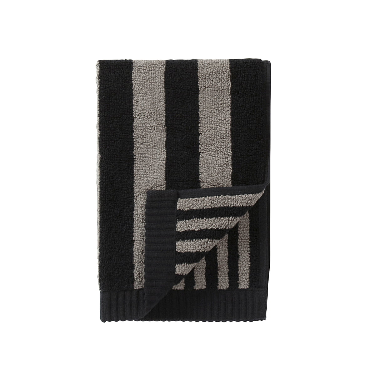 Marimekko - Kaksi Raitaa Gästehandtuch 30 x 50 cm, grau / schwarz | Bad > Handtücher | Verschiedene farben | marimekko