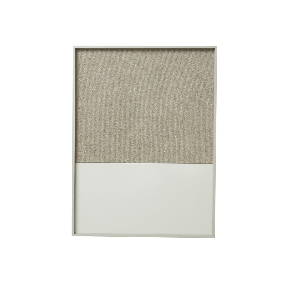 ferm Living - Frame Pinnwand small, grau | Büro > Tafeln und Boards | Grau | Rahmen: eiche -  wand: baumwollgewebe -  kork -  metall pulverbeschichtet | ferm living