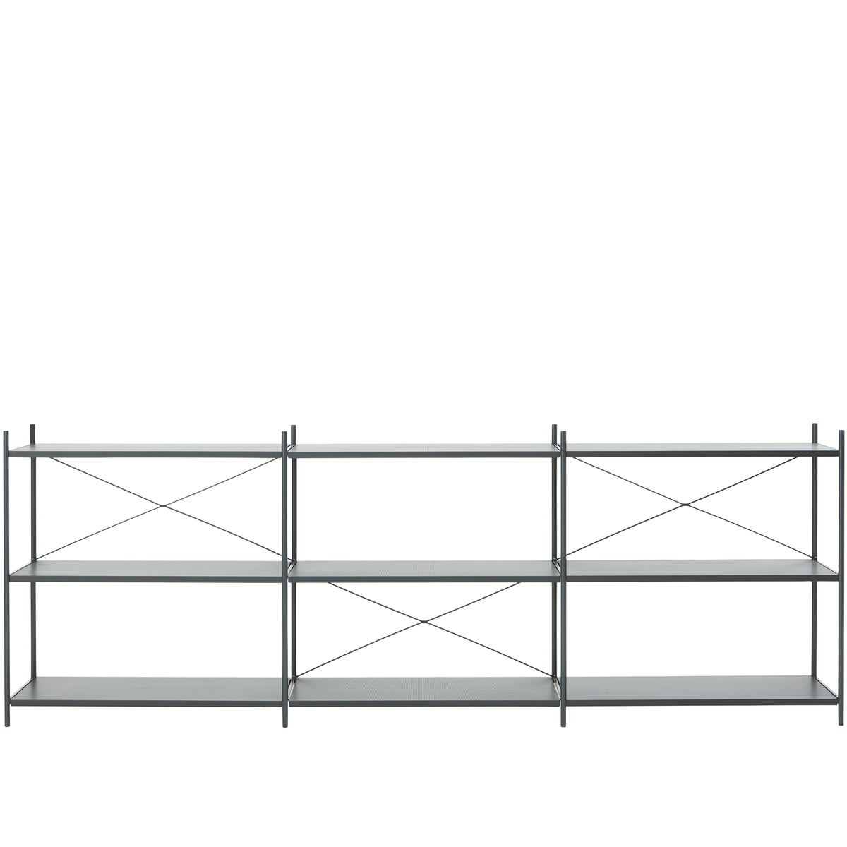 ferm Living - Punctual Regalsystem 3x3, dunkelblau | Wohnzimmer > Regale | Dunkelblau | Metall pulverbeschichtet | ferm living